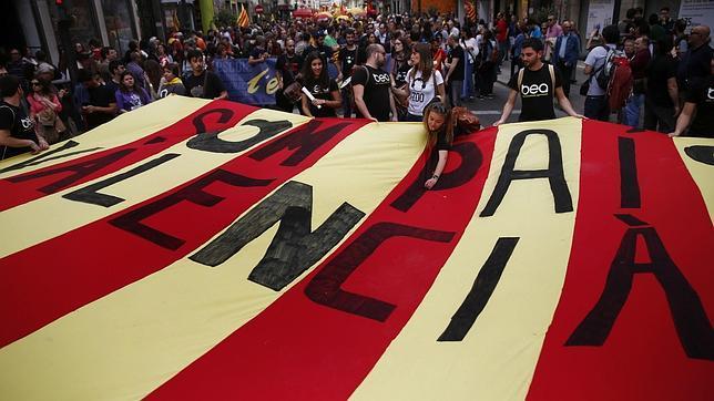 Imagen de la manifestación de este sábado