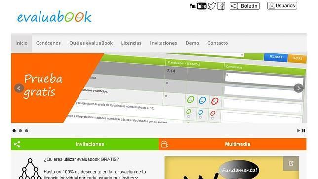 Captura de la aplicación educativa