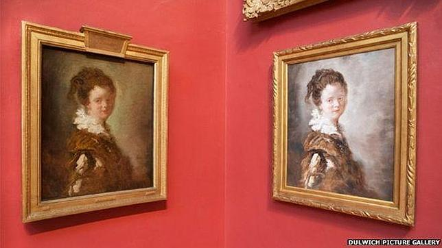 «Mujer joven», de Jean-Honore Fragonard (izquierda) se exhibe ahora junto a la que ha sido su «impostora»