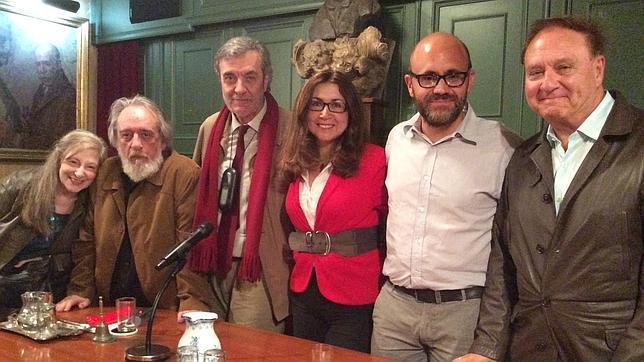 De izquierda a derecha, Soledad Serrano, Enrique García, Emilio Porta, Beatriz Villacañas, Pablo Luque Pinilla y Alfredo Villaverde