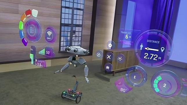 Detalle de una de las posibilidades de Microsoft Hololens