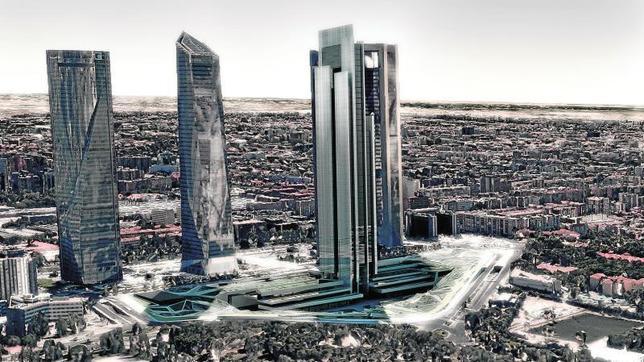 Imagen del proyecto donde con el nuevo techo de Madrid, la superficie comercial a sus pies y la zona peatonal