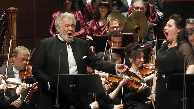 El tenor Plácido Domingo en concierto