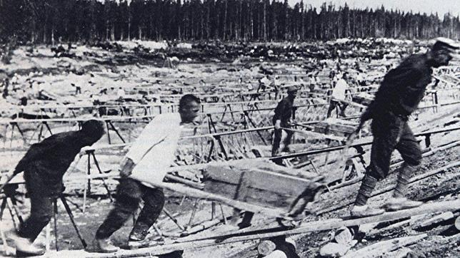 Imagen de un gulag soviético