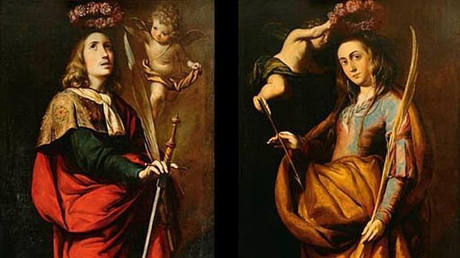 San Acisclo y su hermana santa Victoria, ambos del pintor Antonio del Castillo alcanzaron el precio de venta más alto de la subasta