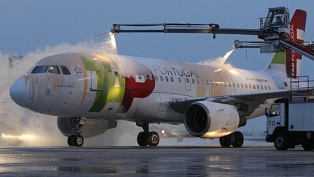 Avión de TAP en el aeropuerto de Munich