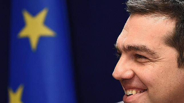 Alexis Tsipras, durante una reciente rueda de prensa en Bruselas