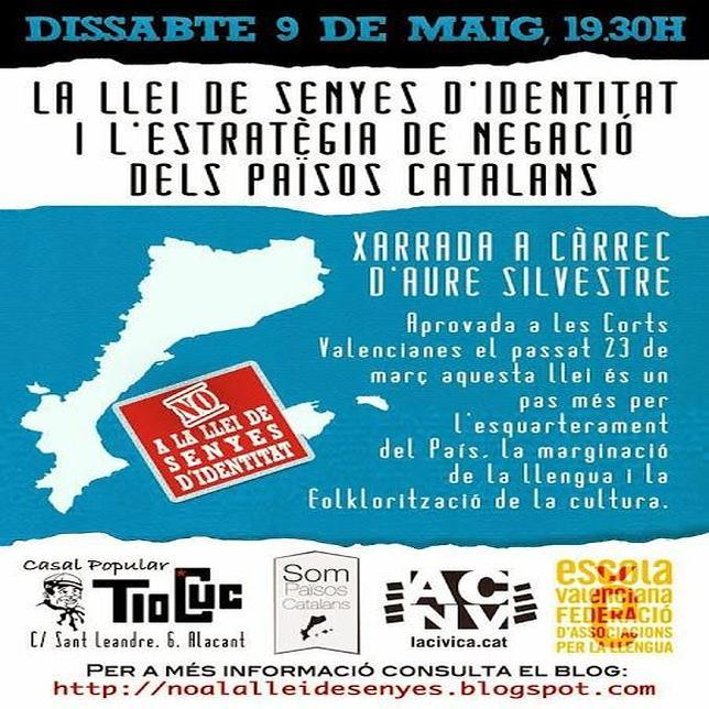 Imagen del cartel que anuncia el acto