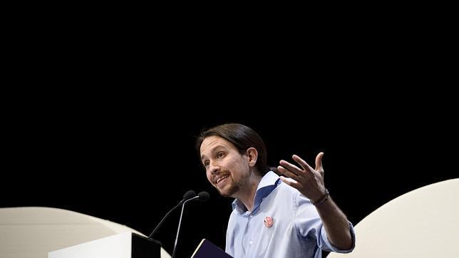 Pablo Iglesias durante la presentación de su programa económico
