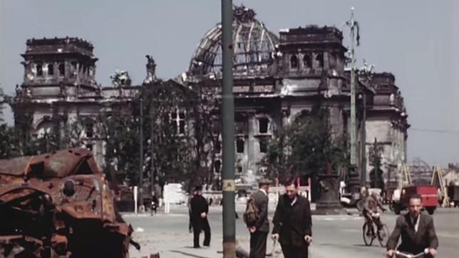 Una de las secuencias del vídeo sobre Berlín en julio de 1945