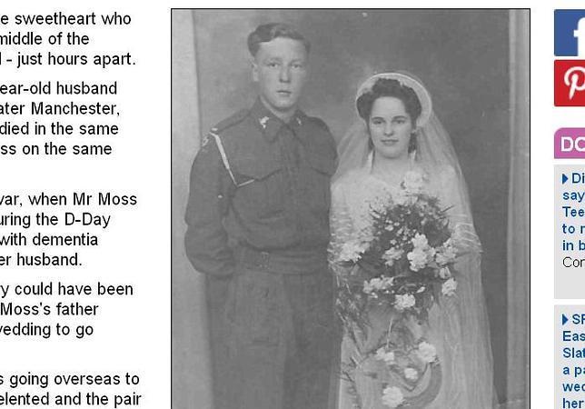 Un veterano del Día D y su mujer mueren de la misma enfermedad y en el mismo hospital con pocas horas de diferencia