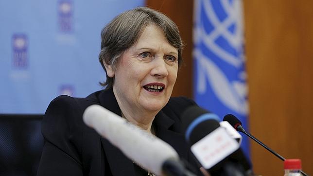 La responsable del PNUD en una conferencia en Pekín