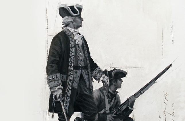 Boceto realizado por Ferrer-Dalmau para la estatua de Salvador Amaya.