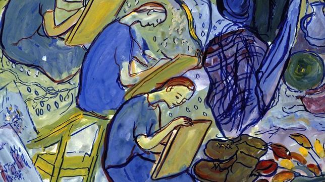 Detalle de uno de los cuadros de la pintora Charlotte Salomon, a quien David Foenkinos dedica su último libro