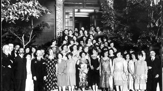 La Residencia de Estudiantes en 1926 con el ministro de Instrucción Pública