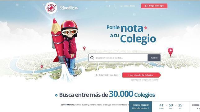 Captura de la portada web de SchoolMars