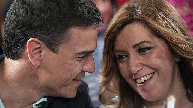 Susana Díaz y Pedro Sánchez, en una imagen de archivo