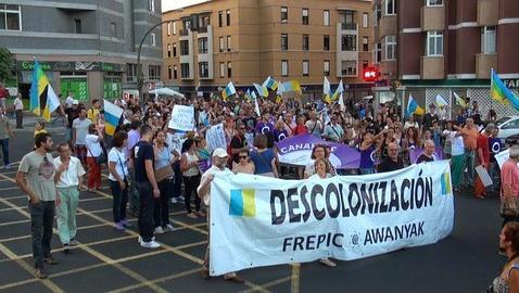 Una manifestación independentista en Las Palmas