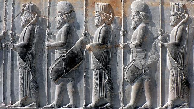 Persepolis, guerreros persas y medos
