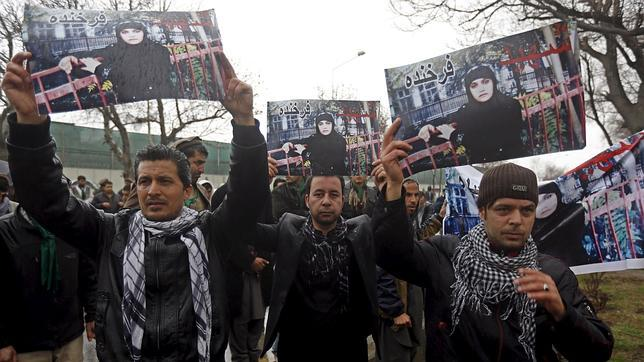Manifestación en Afganistán por Farkhunda