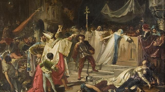 Pintura de el «Saco de Roma», 1888, por Francisco Javier Amérigo Aparicio