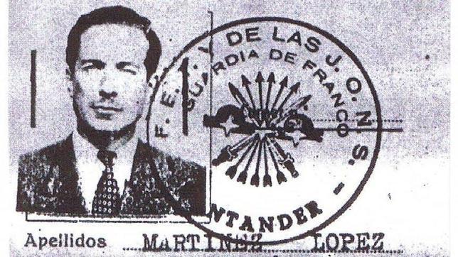 El pasaporte falso de Spitzy, acreditado por Falange
