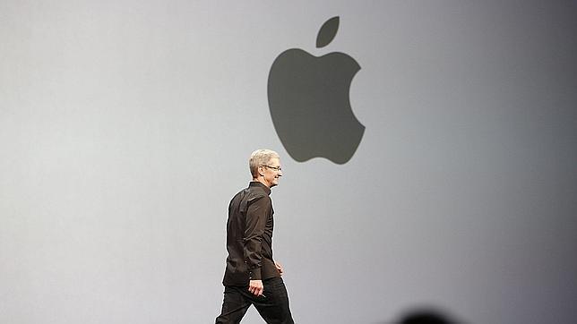 Tim Cook, durante una presentación de Apple