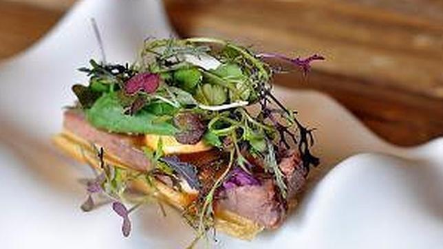 Crujiente de rabo de toro, tapa estrella de un «Master Chef» en Las Ventas