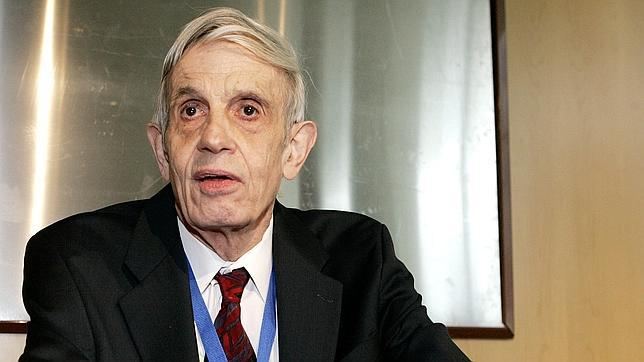John Nash en una conferencia en Madrid