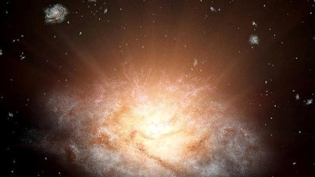 El misterio de la galaxia que brilla como 300 billones de soles