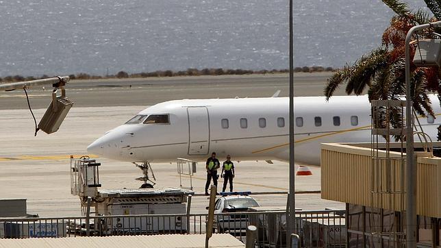 Avión privado procedente de Venezuela que aterrizó en la isla de Gran Canaria cargado con droga en agosto de 2012