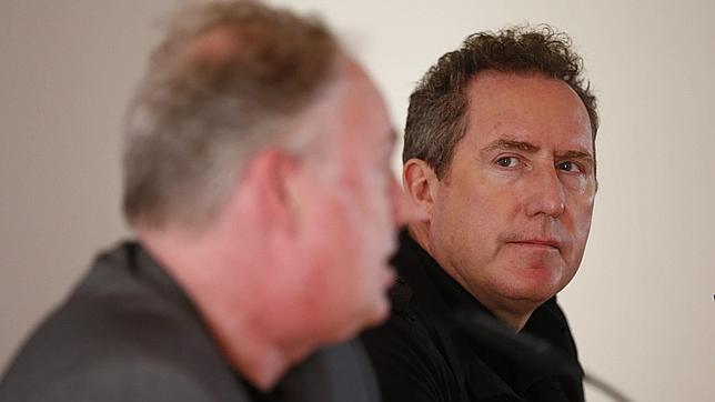 Andy McCluskey y Paul Humphreys, ayer en Barcelona