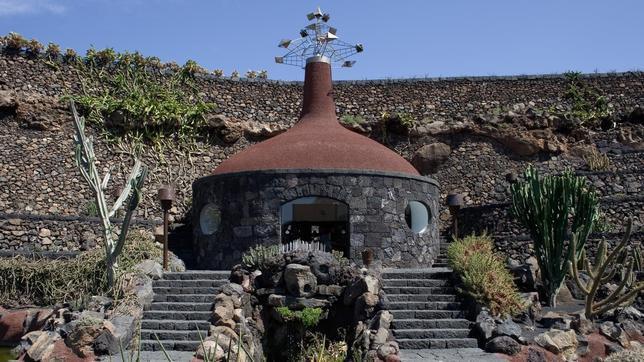Jardín de cactus, ejemplo de intervención arquitectónica integrada en el paisaje