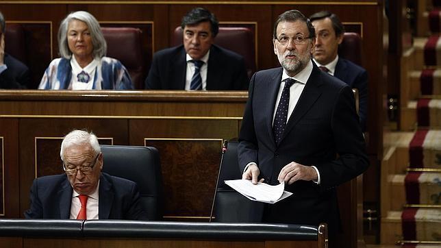 Mariano Rajoy, este miércoles en el Congreso de los Diputados