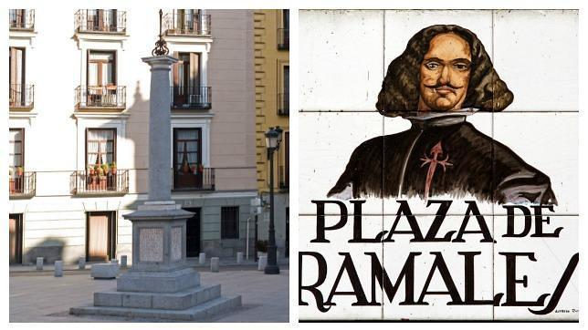 Monolito en la Plaza de Ramales de Madrid