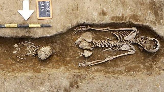 El esqueleto fue inhumado boca abajo, un castigo reservado para las monjas que pecaban