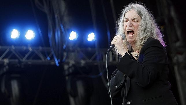 Patti Smith, durante un momento de su actuación