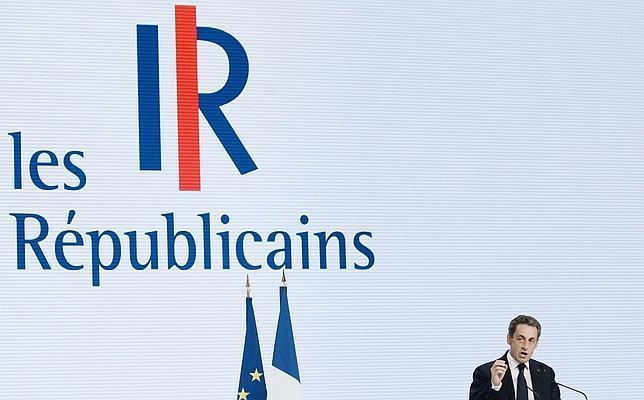 Sarkozy en París este sábado durante la presentación de Los Republicanos, su nuevo partido