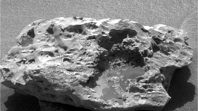 Vista del ojo derecho de la imagen tridimensional del meteorito bautizado como «Block Island»