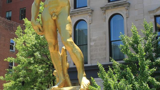 David en el hotel-museo 21c, en Estados Unidos