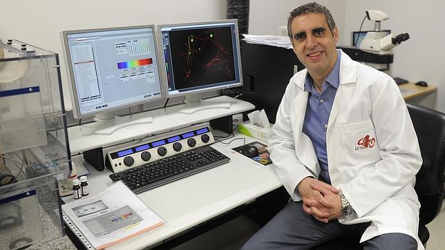El doctor Esteller en su laboratorio del Idibell