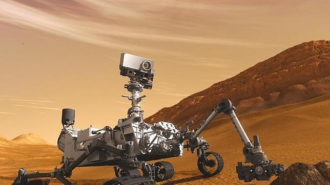 Una imagen del Curiosity en Marte
