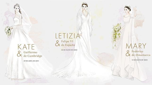 los diez vestidos de novia más emblemáticos de la realeza