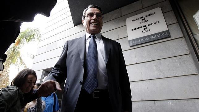Ernesto Sanjuán, a su llegada a los juzgados el pasado septiembre