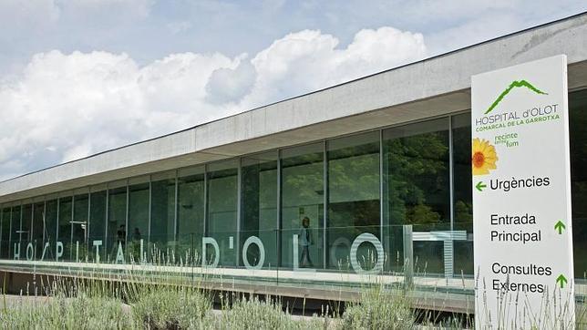 Hospital de Olot (Girona), donde se diagnosticó el caso de difteria de un menor