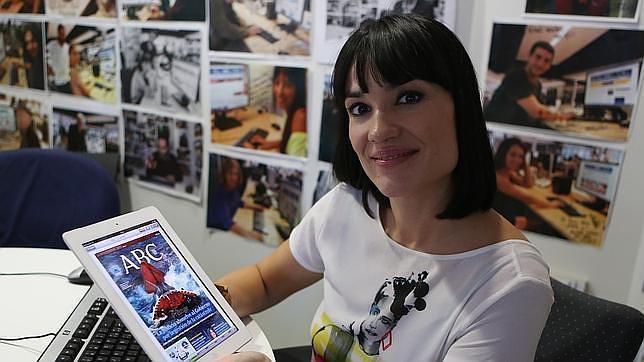Irene Villa, en una imagen de archivo, de visita en ABC