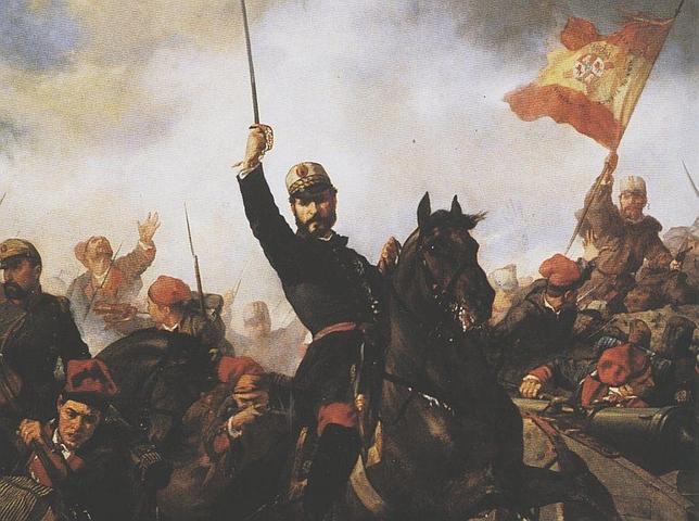 El general Prim, quien convocó el concurso en 1870