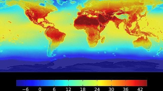 Un mapa de la NASA muestra cómo se dispararán las temperaturas en la Tierra