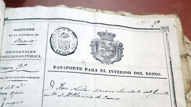 Pasaporte falsificado de Romasanta