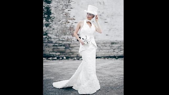 cinco asombrosos vestidos de novia realizados con papel higiénico
